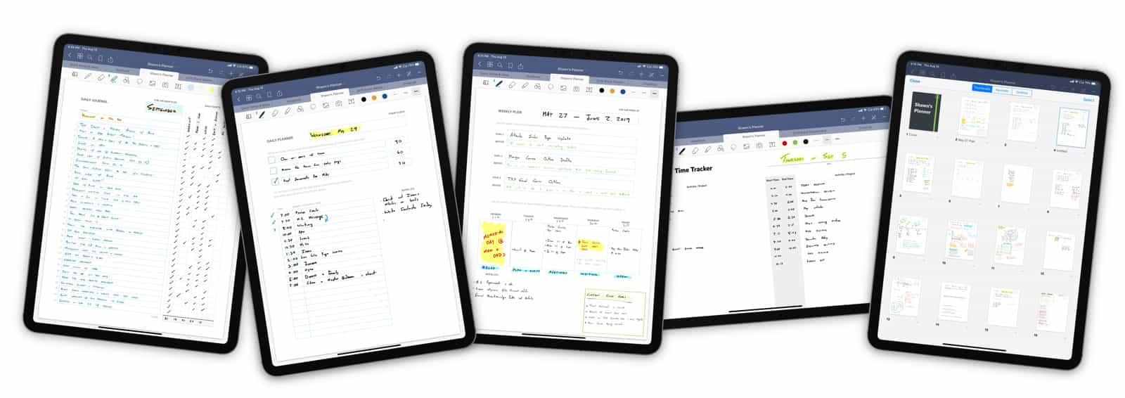 GoodNotes Custom Templates work on iPad Pro