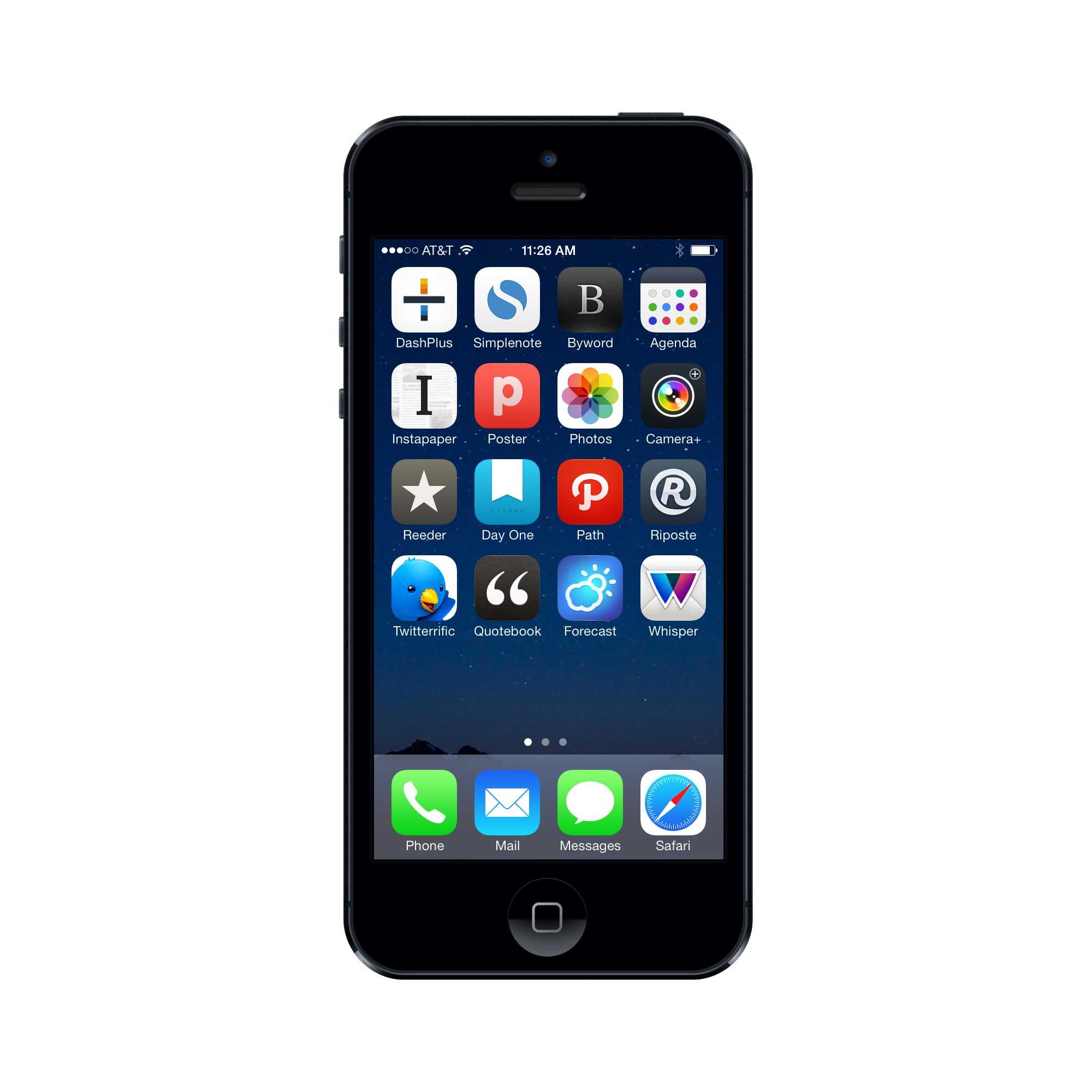 Patrick Rhone's iPhone setup