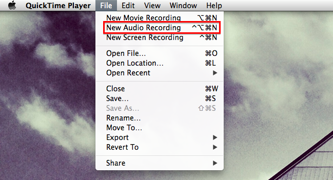 quicktime screen recording with sound