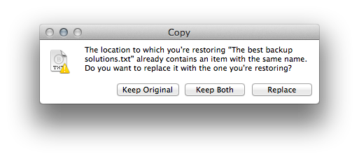 Time Machine file collision dialog