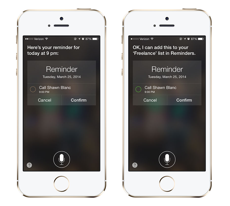 Siri can move reminders