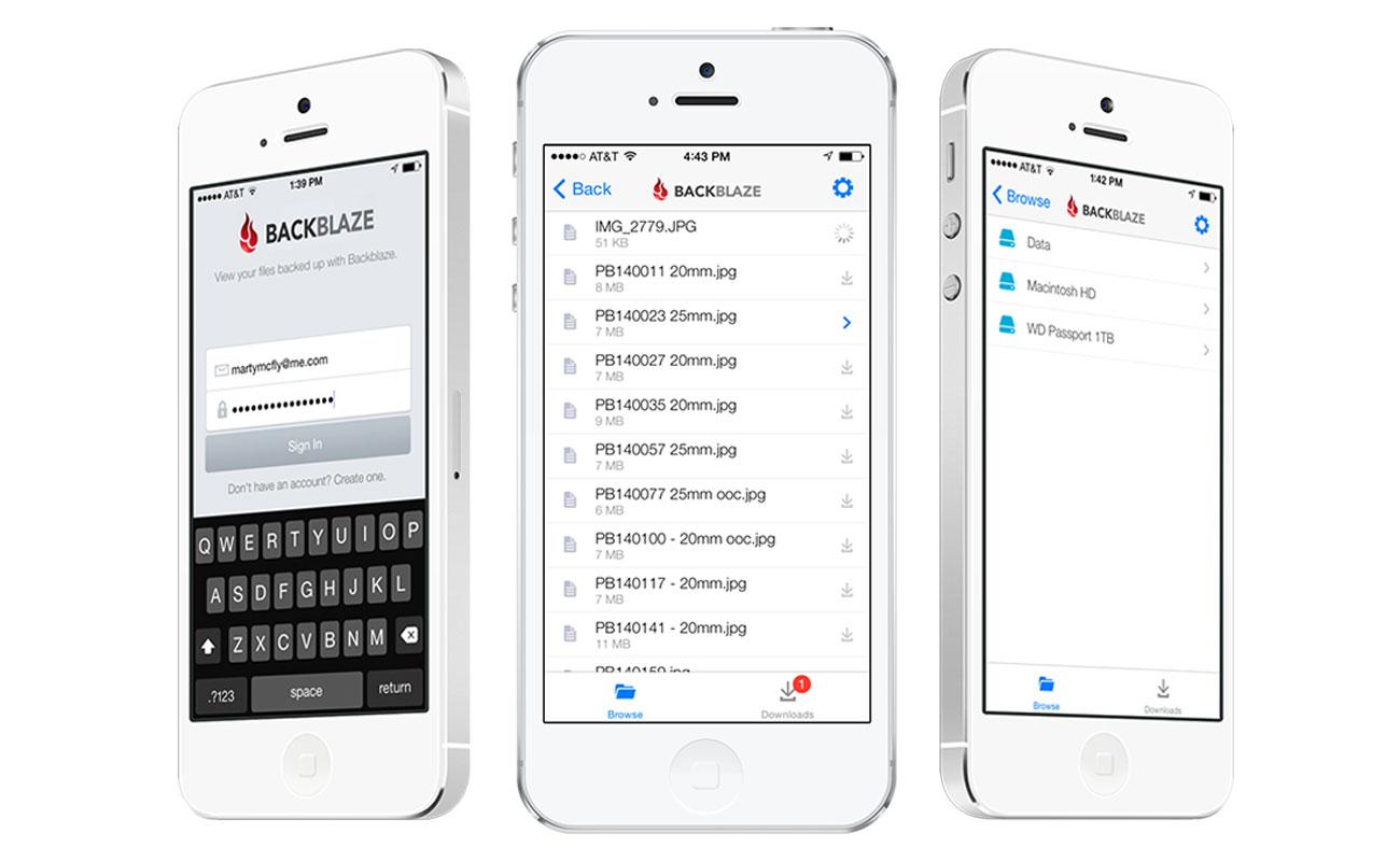 The Backblaze iPhone App