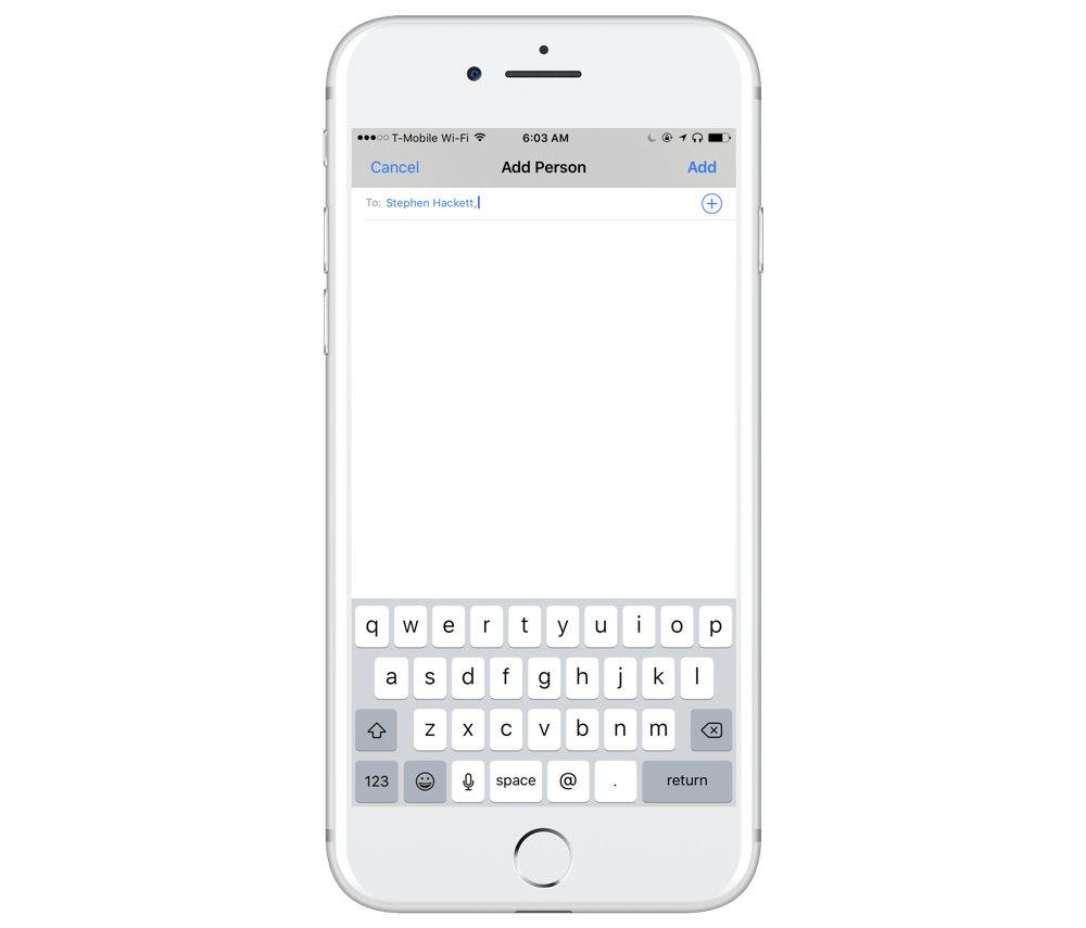 Reminders iCloud sharing