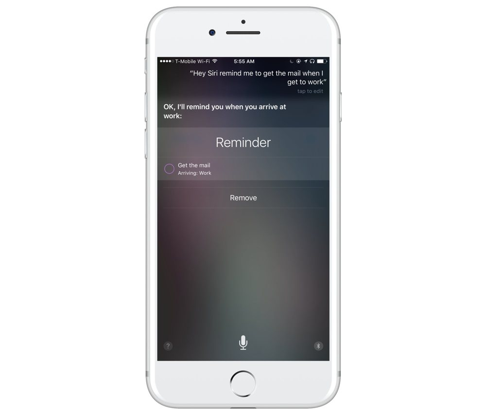 Reminders Siri integration