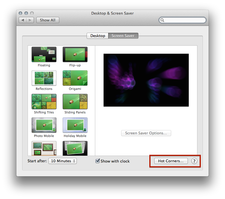 Quick Tip Enable Hot Corners On Os X The Sweet Setup