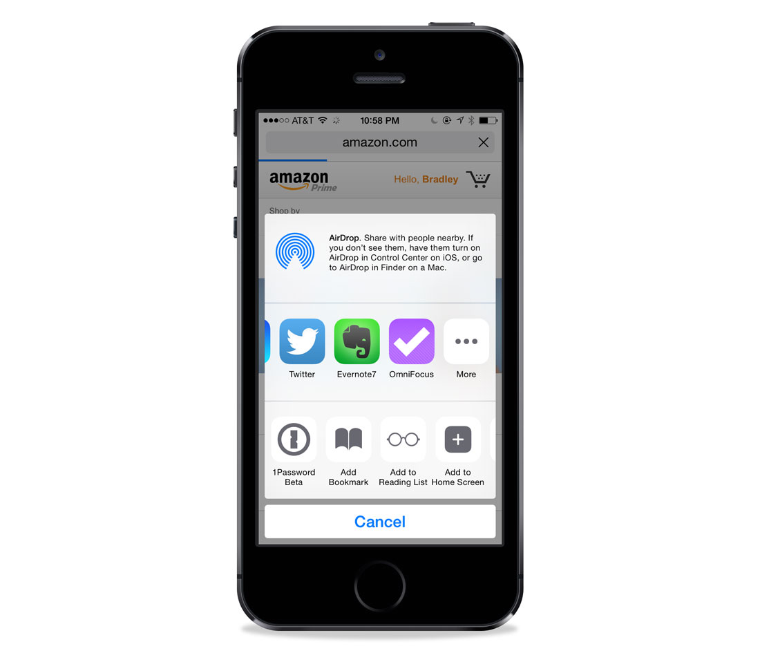 OmniFocus 2 sharing extension in iOS 8