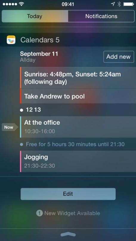 Calendars 5.5 for iOS 8