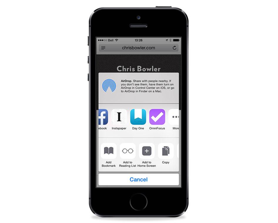 OmniFocus iOS 8 Extension