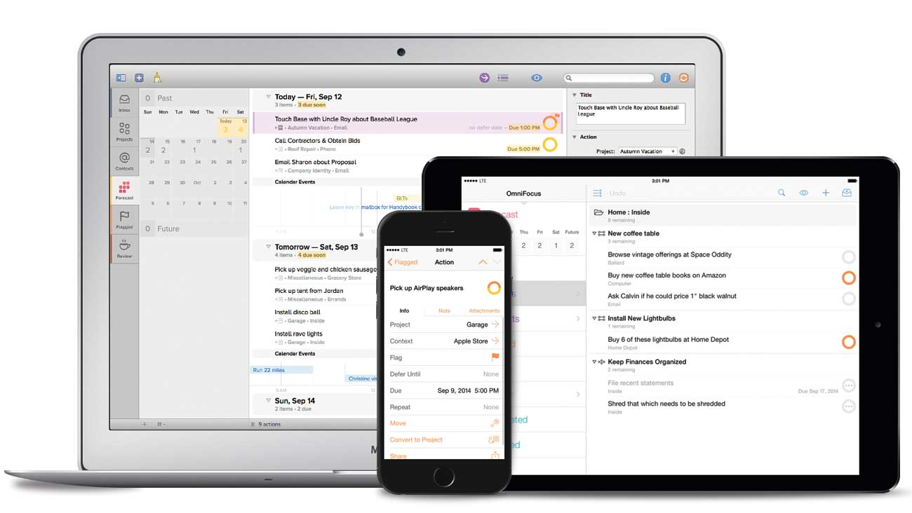 OmniFocus for iPad, iPhone, and Mac