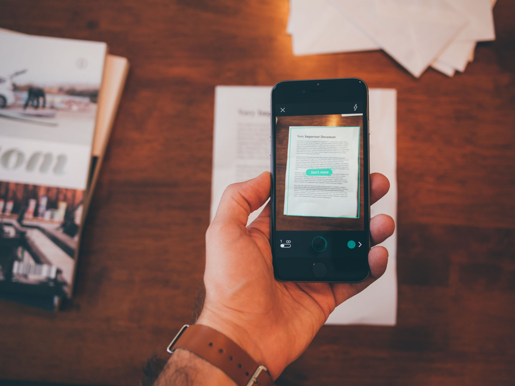 Scanbot is the best document scanning app for iOS