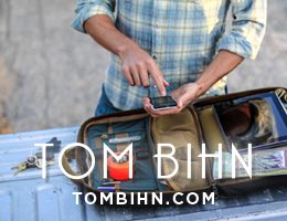 TOM BIHN bags: designed and made in USA since 1972.