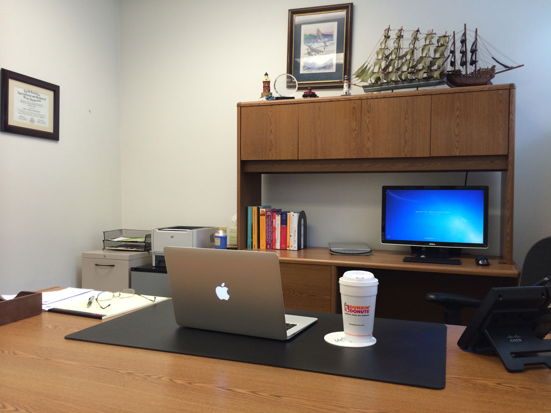 Dr. Terry Portis' office setup