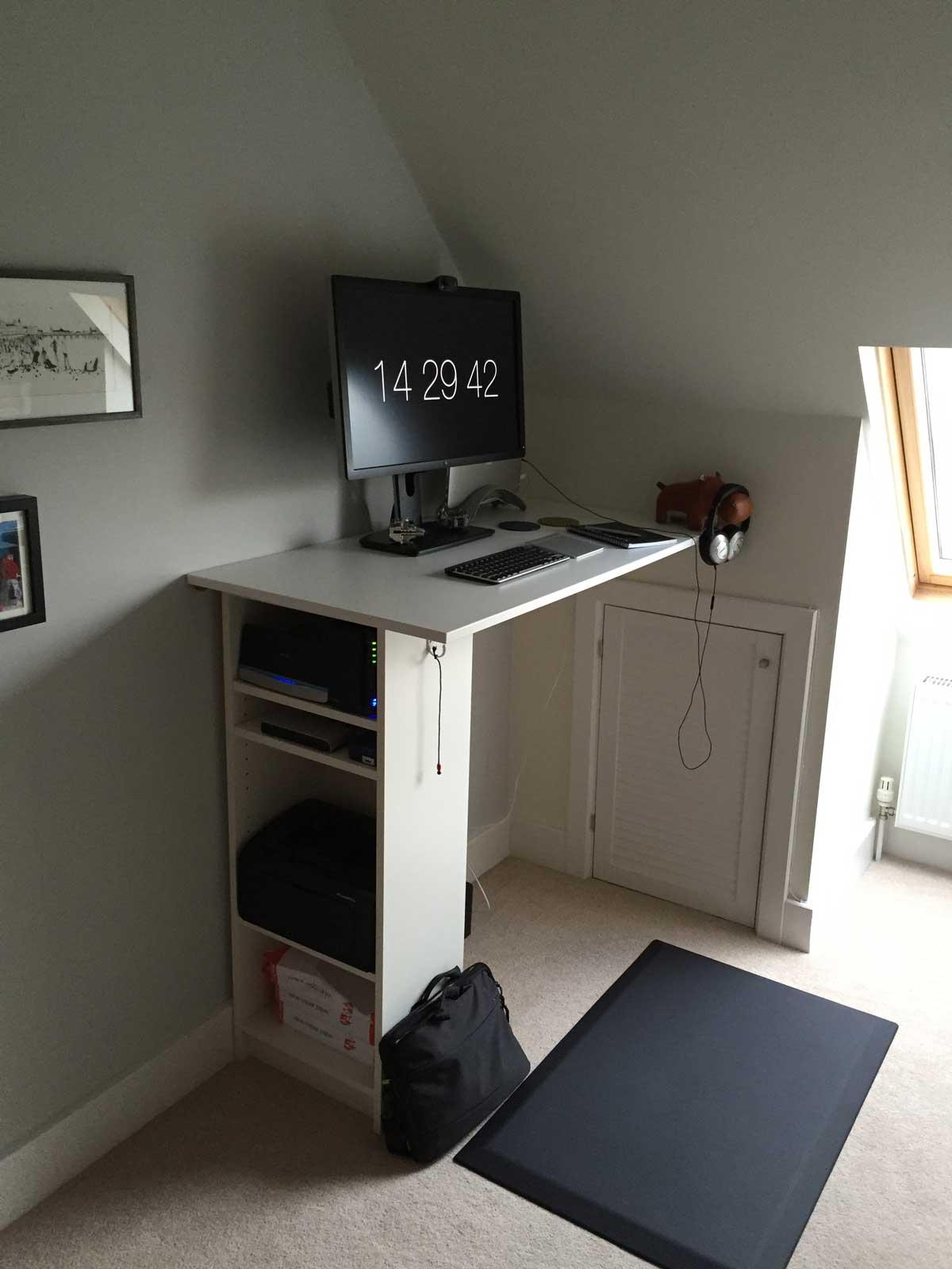 Andy Croll's standing desk setup