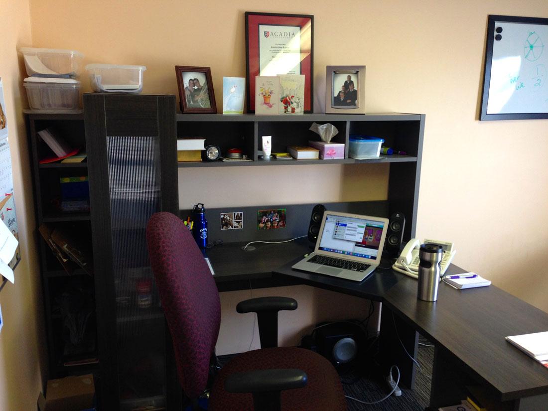 Jennifer Rowsell's desk