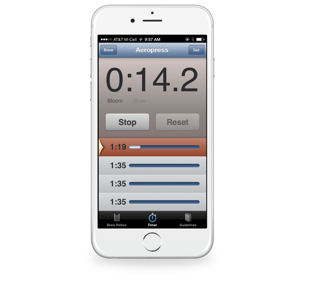 Brew Control timers iPhone