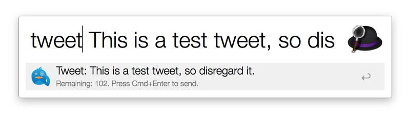 Alfred Tweet workflow 2