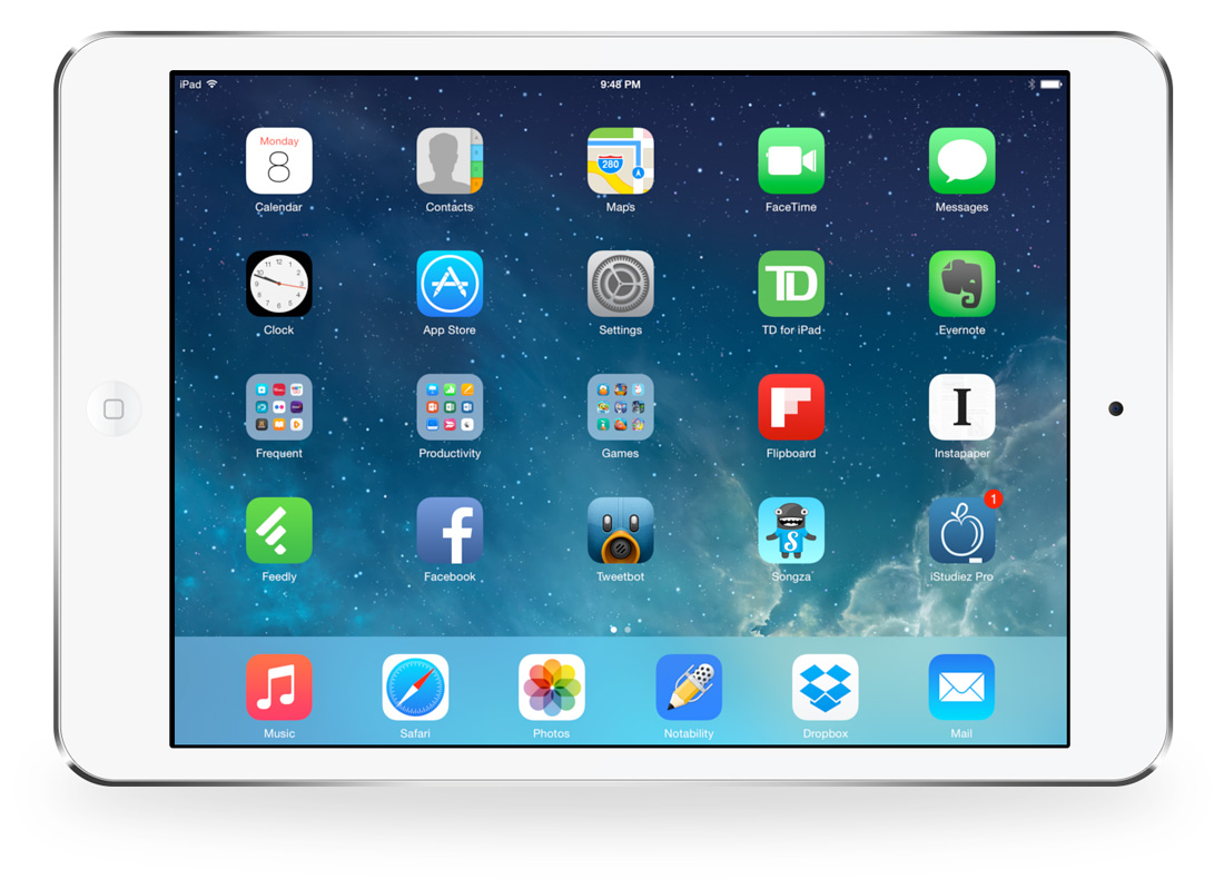 Blake's iPad setup