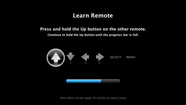 Apple TV new remote screen