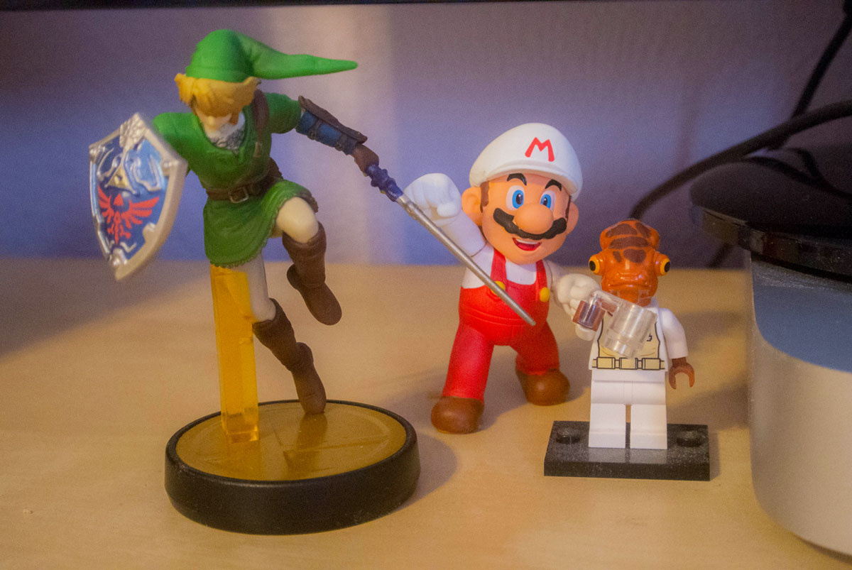 Star Wars and Nintendo figures