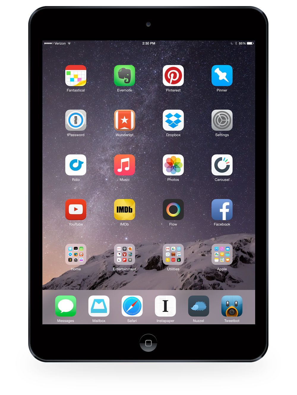 Matt Hamilton's iPad Air