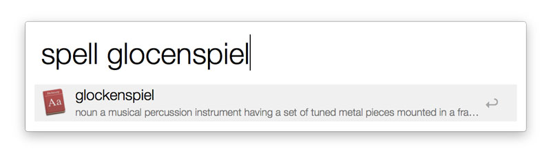 Alfred spelling help