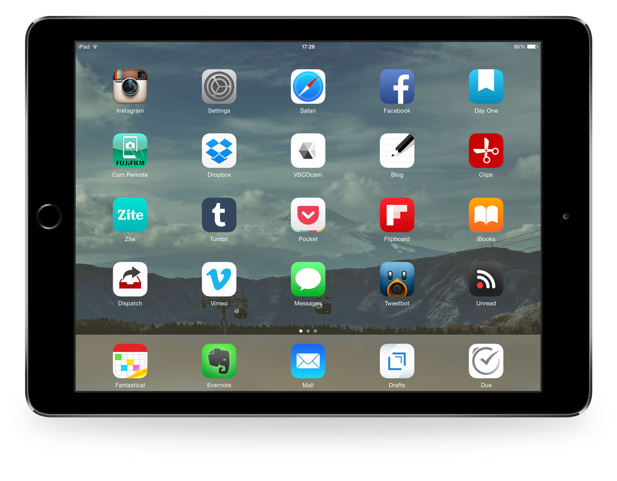 Dean Sherwood's iPad Air 2