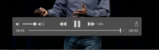 QuickTime X variable speed playback