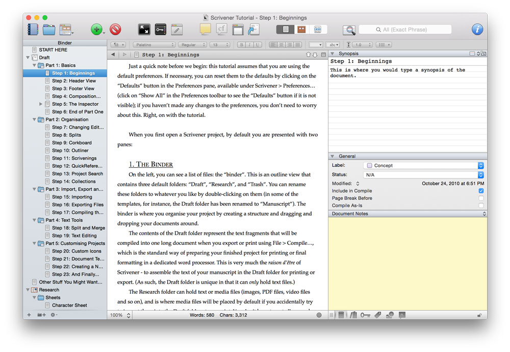 scrivener writing software Scrivener is book-writing software that could easily be adapted for writing legal memoranda.