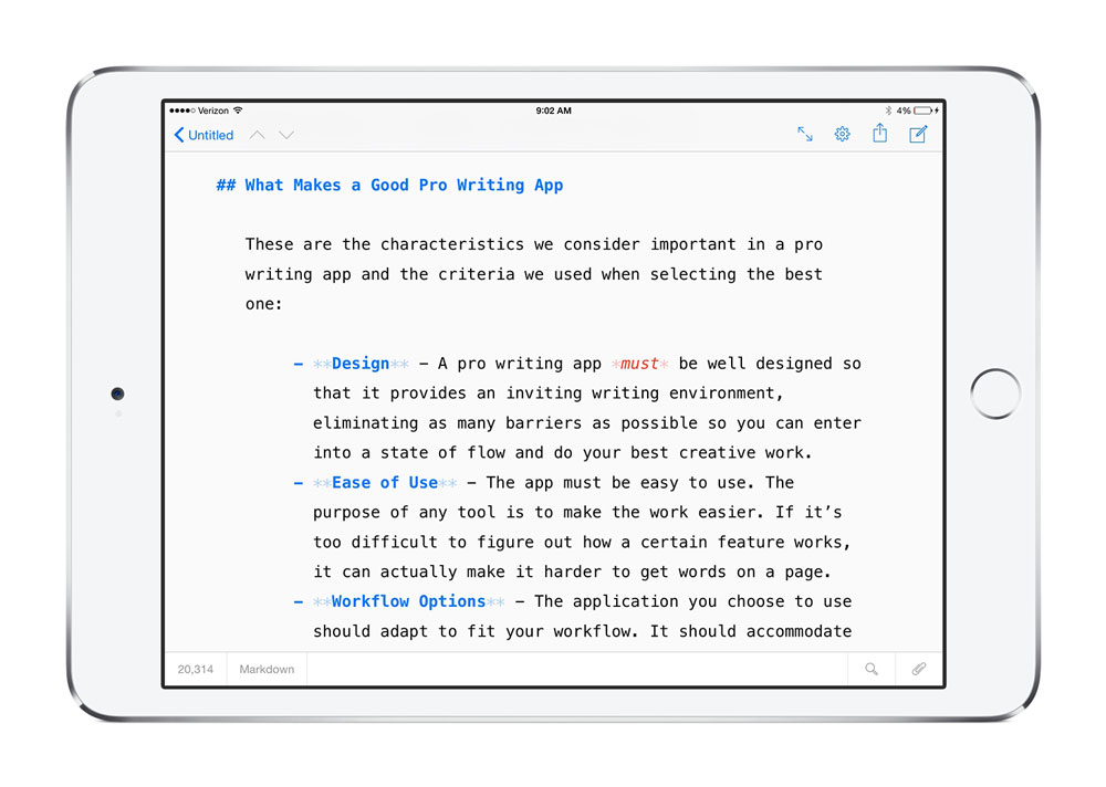 Ulysses for iPad