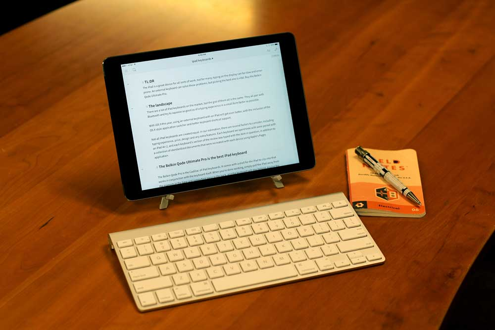 Apple Bluetooth keyboard and stand