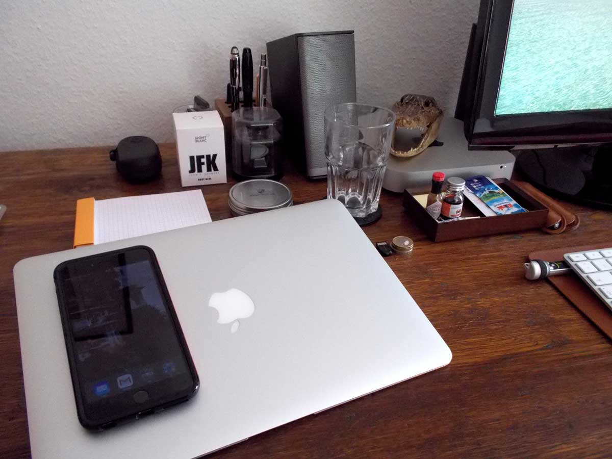 BizDevCon's desk