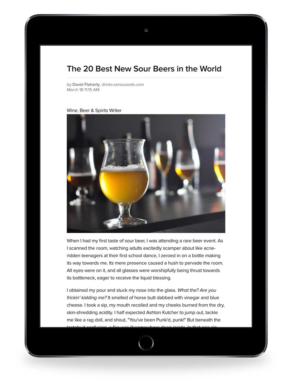screenshot 14 Pocket view of beer article