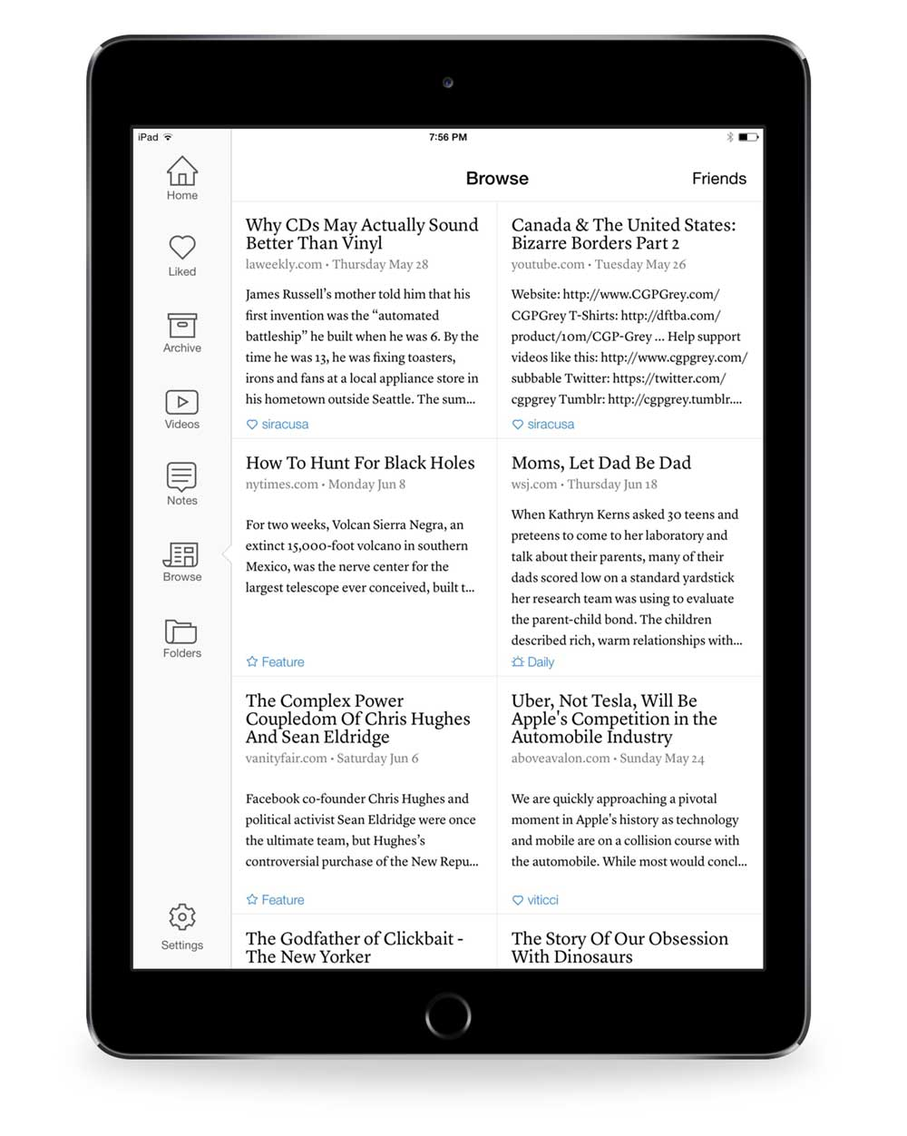 screenshot 7 Instapaper Browse section