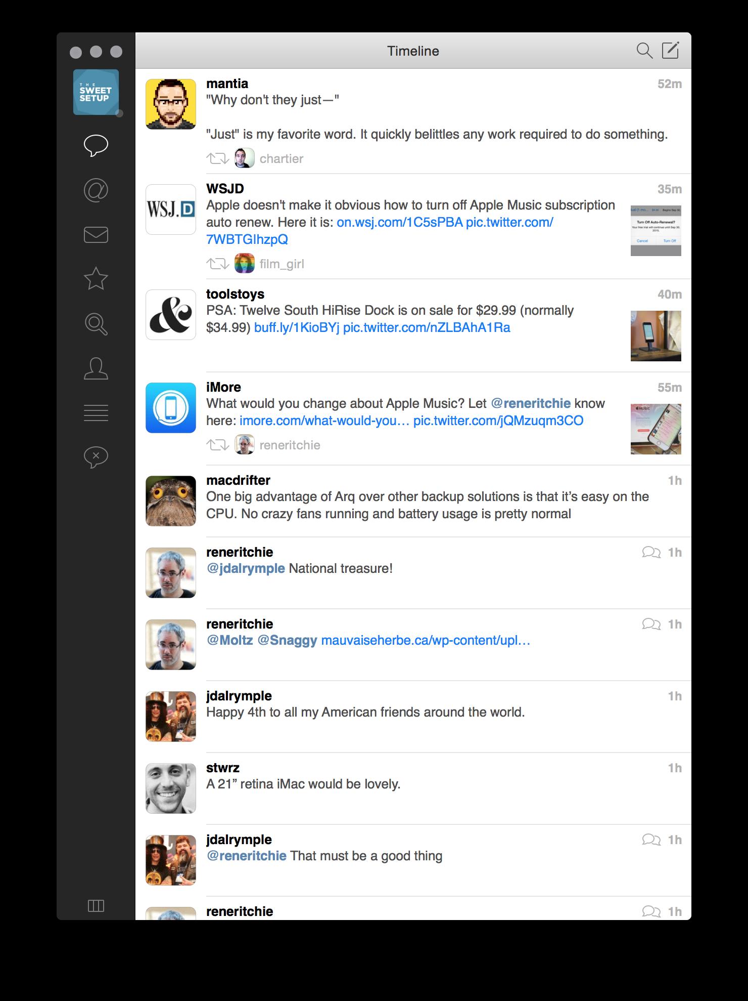 Tweetbot 2's timeline