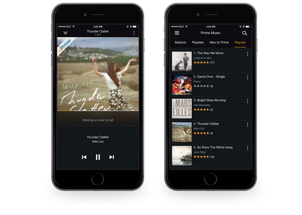 Amazon Prime Music screenshots