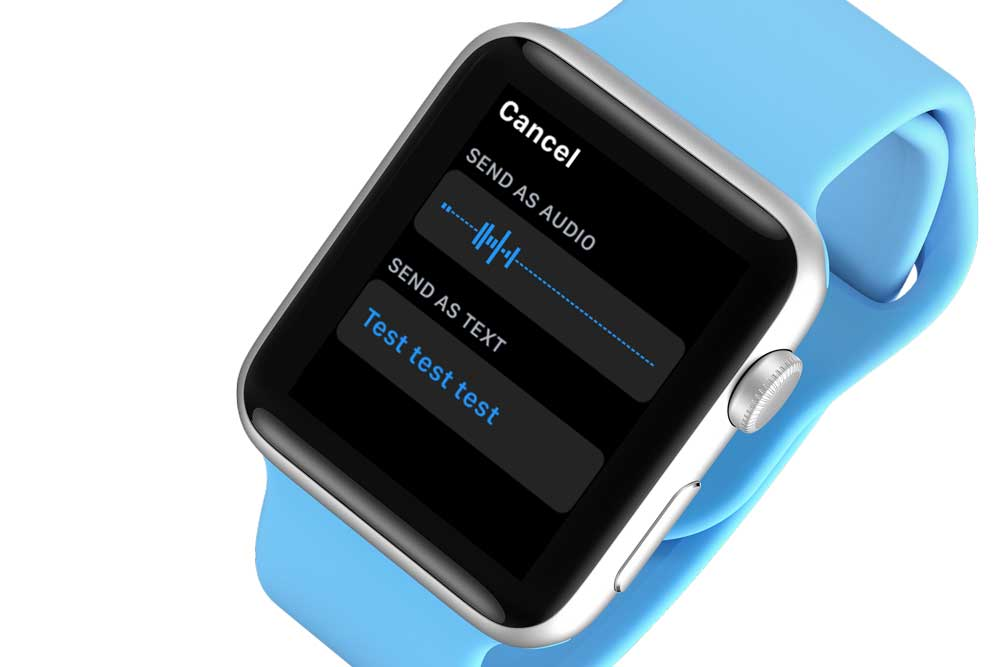 Apple Watch Audio Messages settings in iPhone