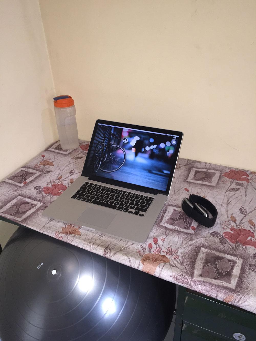 Saravanan's desk