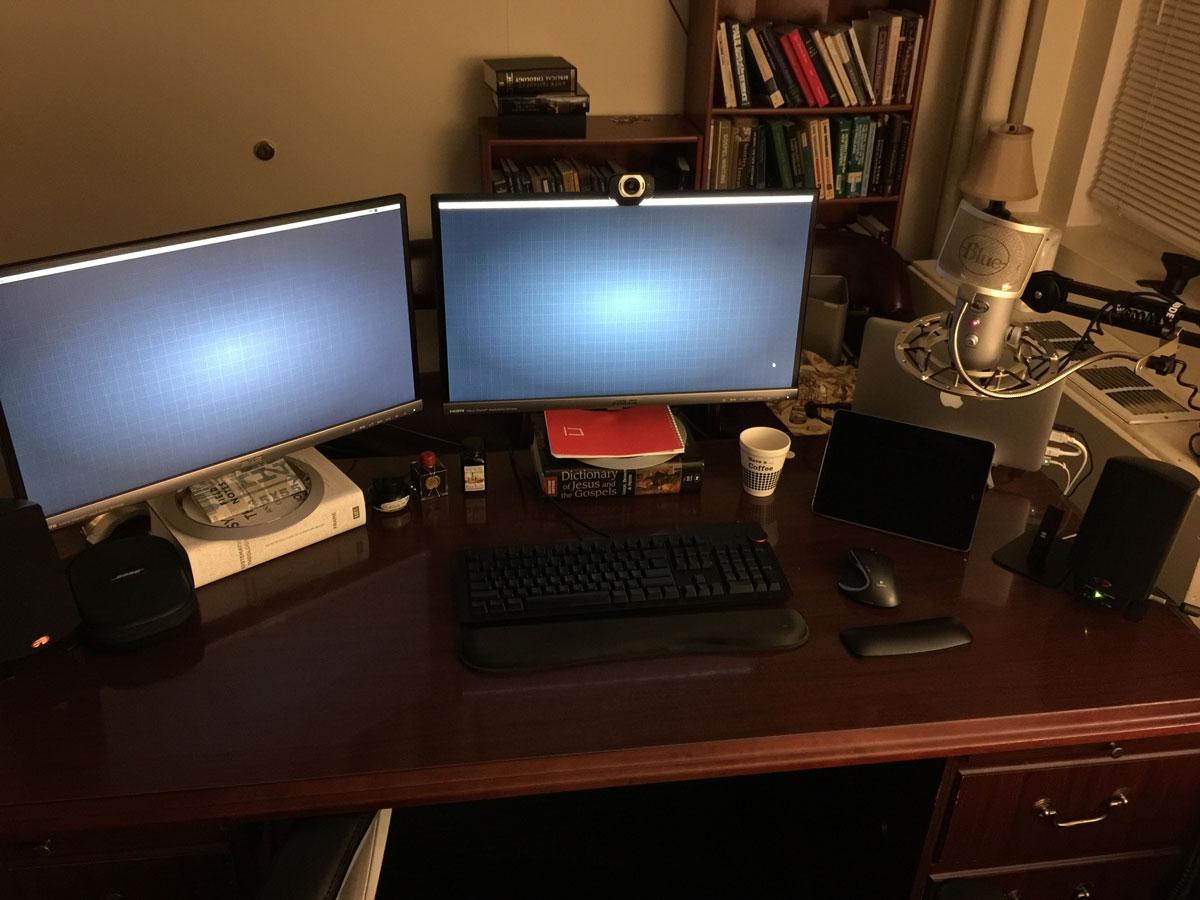 Brian Renshaw's desk