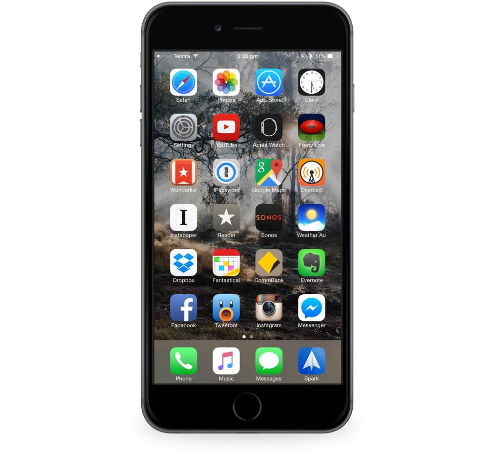 Zach Dyson's iPhone