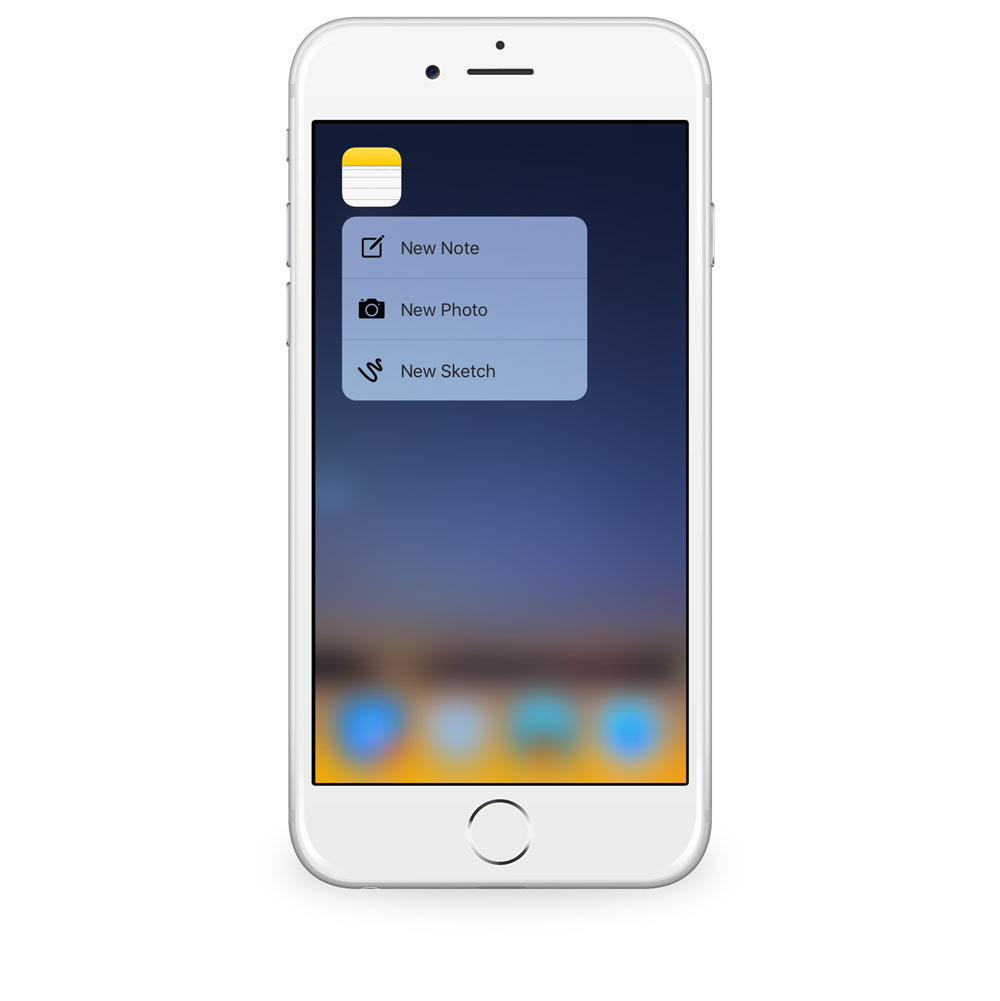 Notes 3D Touch