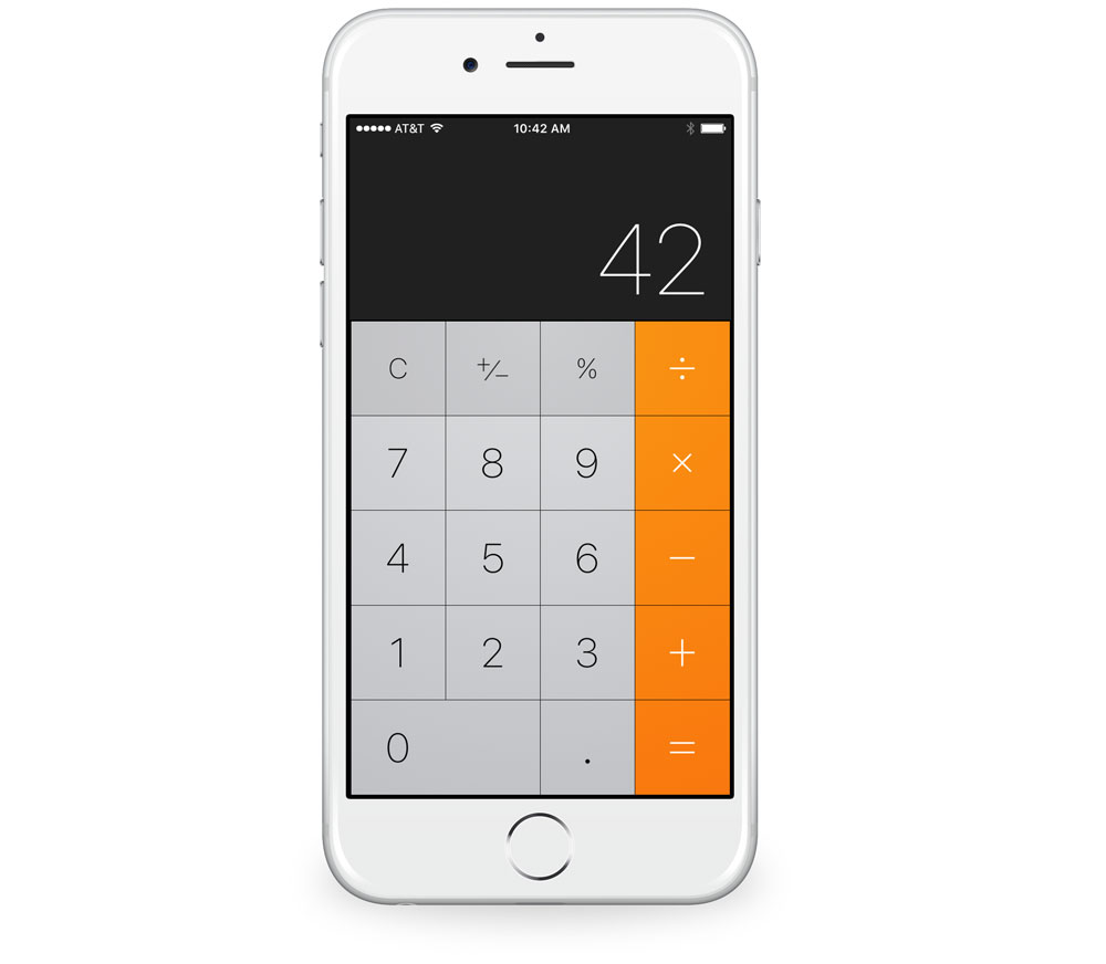 Apple basic calculator