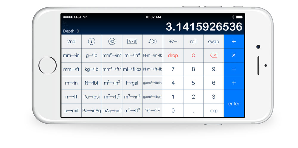 PCalc with Conversions layout