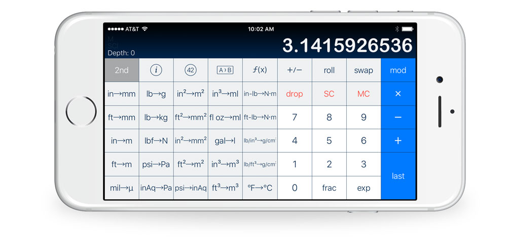 PCalc with Conversions 2nd layout