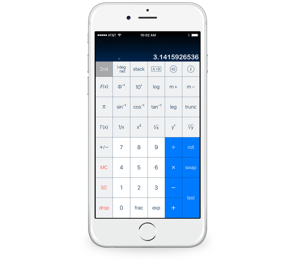 PCalc with Drang 2nd layout