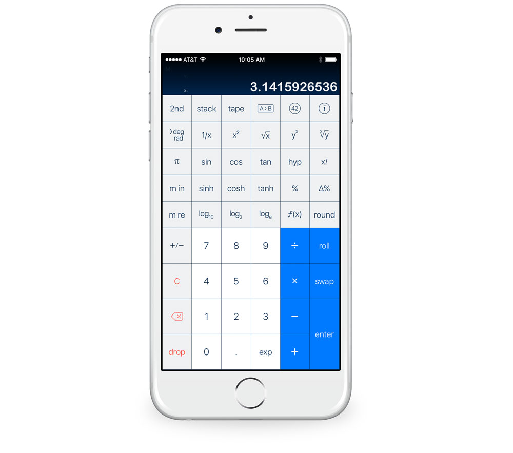 PCalc with Engineering layout