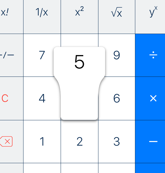 PCalc key popup