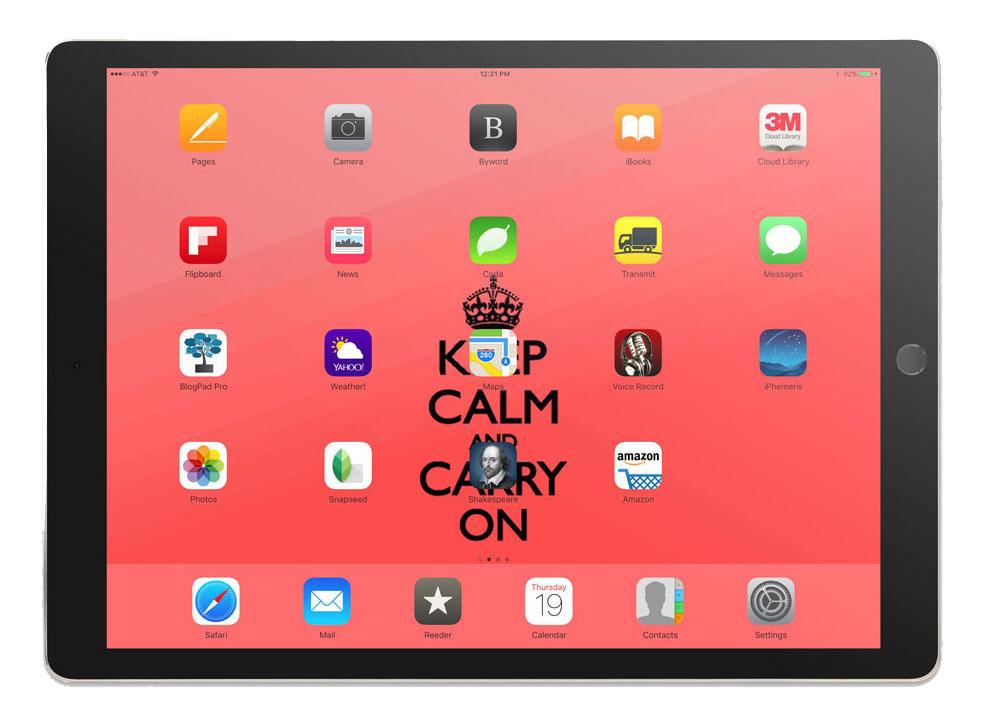 Kramer Wetzel's iPad Pro