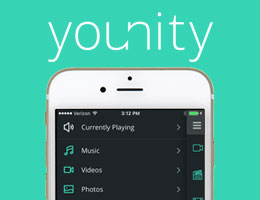 younity: Your entire media collection in your pocket.