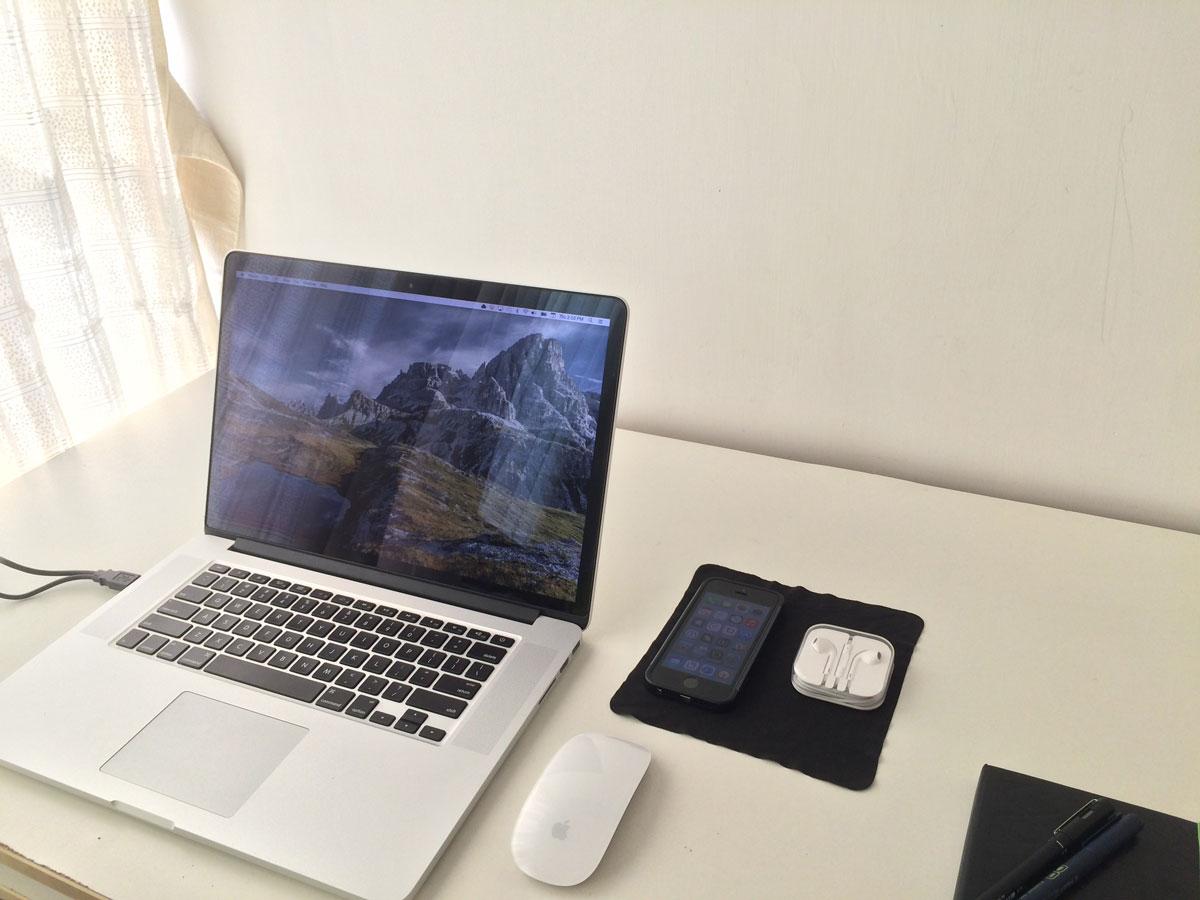 Zaid Syed's desk