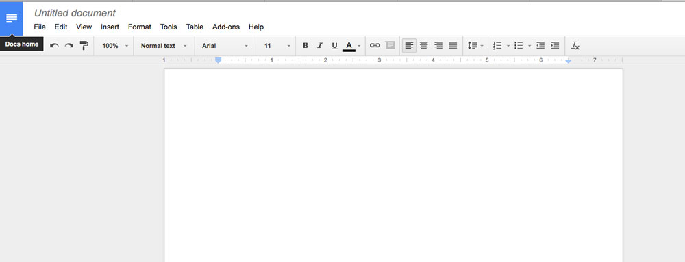 Google Docs for comparison